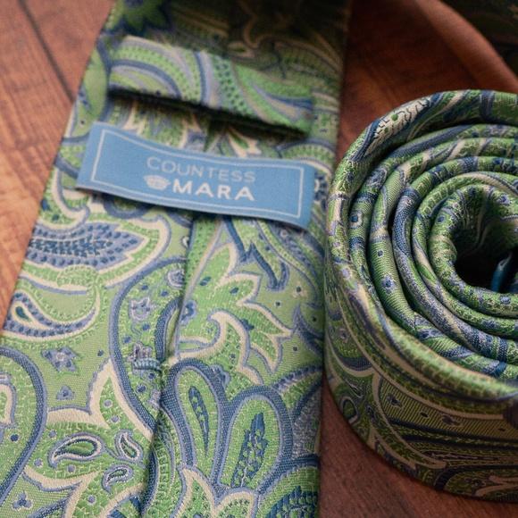 Countess Mara Other - Countess Mara Paisley Tie (green/blue)